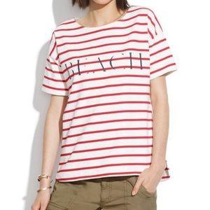Madewell XS BEACH Striped Cotton Shirt